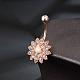 Brass Piercing JewelryAJEW-EE0006-80RG-5