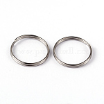 304 Stainless Steel Split Rings, Stainless Steel Color, 15x1.8mm