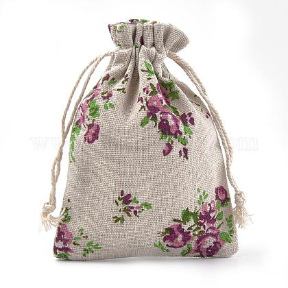 ポリコットン(ポリエステルコットン)パッキングポーチ巾着袋ABAG-S004-04H-10x14-1