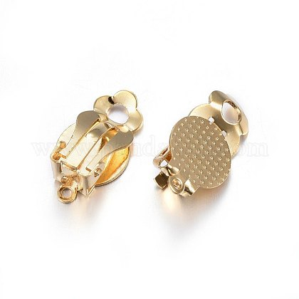 304 Stainless Steel Clip-on Earring FindingsSTAS-P210-14G-1