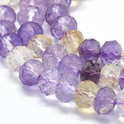 天然石アメトリンビーズ連売りG-D0013-61-1