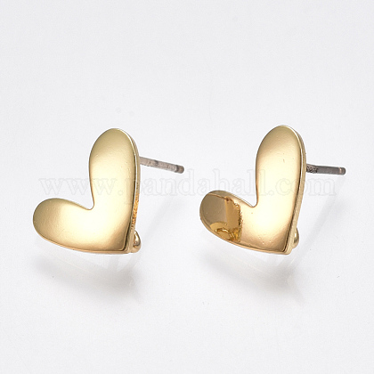 Brass Stud Earring Findings KK-S348-221-1