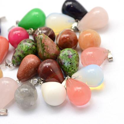 Colgantes colgantes en piedra natural y sintéticaG-Q435-M-1