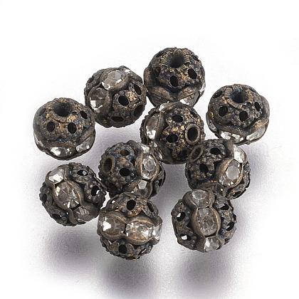 Abalorios de Diamante de imitación de latónRB-A011-6mm-01AB-NF-1