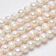 Grado de hebras de perlas de agua dulce cultivadas naturalesPEAR-L001-A-08-4