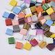 2-Hole Glass Seed Beads, Mixed Style, Rectangle, Mixed Color, 5x4.5~5.5x2~2.5mm, Hole: 0.5~0.8mm