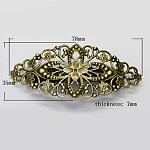 Античная бронзовая железная фурнитура старинных волос заколка с латунным подносом, Размер : шириной около 35 мм , 78 мм длиной, толстый 7 мм