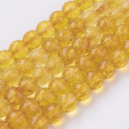 Natural Quartz Crystal Beads StrandsG-G099-F4mm-19-1