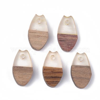 Colgantes de resina y madera de nogalRESI-S358-12B-1