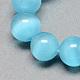 Chapelets de perles d'œil de chatCE-R002-6mm-21-1