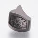 Environmental Brass Micro Pave Cubic Zirconia Slide CharmsZIRC-F083-107-RS-3