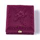 Boîtes à bijoux en velours motif fleur roseVBOX-O003-04-1