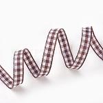 Двухсторонняя атласная лента, Нейлоновая лента, коричневый зонтик лента, около 1/4