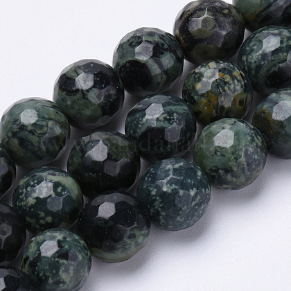 Abalorios de malaquita naturales hebrasG-S281-12-8mm-1