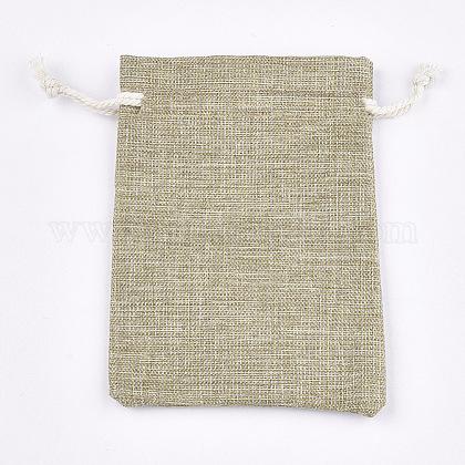 ポリコットン(ポリエステルコットン)パッキングポーチ巾着袋ABAG-S004-10A-9x12-1