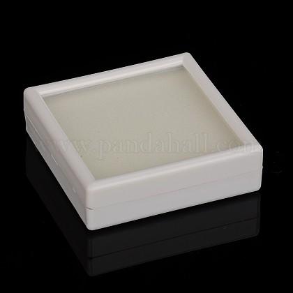 Boîtes d'emballage en plastique en velours et éponge à l'intérieurOBOX-N001-01A-1