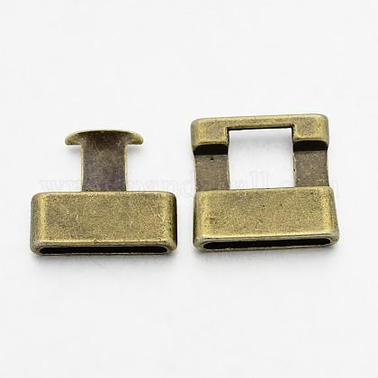 チベット風合金スナップロッククラスプTIBEB-A101306-AB-FF-1