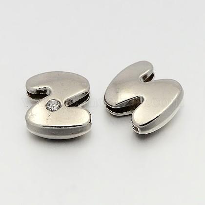 Letter Slider Beads for Watch Band Bracelet MakingALRI-O012-Z-NR-1