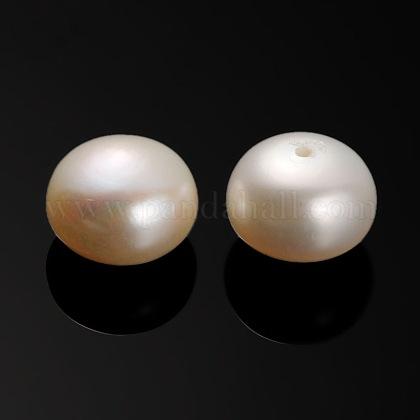Perlas naturales abalorios de agua dulce cultivadasPEAR-E001-01-1