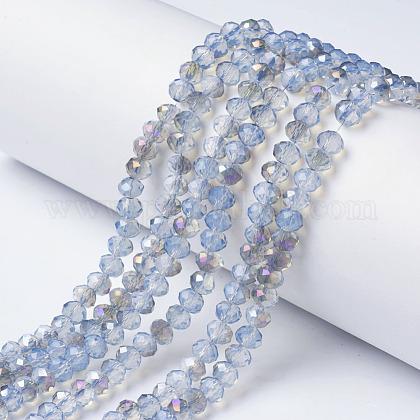 Galvanisieren GlasperlenX-EGLA-A034-J4mm-F03-1