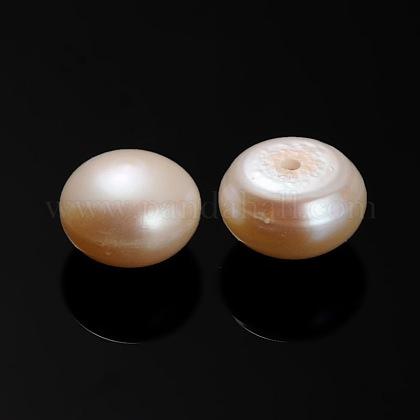 Perlas naturales abalorios de agua dulce cultivadasPEAR-E001-02-1