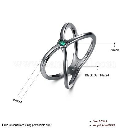 Trendy Brass Cubic Zirconia Finger RingsRJEW-BB27294-D-8-1