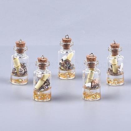 Decoraciones pendientes de cristal de la botella que deseaGLAA-S181-02E-1