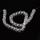 Half-Handmade  Faceted Transparent Glass Round Beads StrandsX-GF8mmC01-3