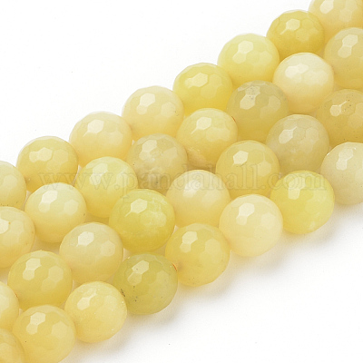 L-M Lemon Jade 15x20mm 13x18mm Faceted Flat Oval beads 16 strand Natural yellow green nephrite jade beads for jewelry making