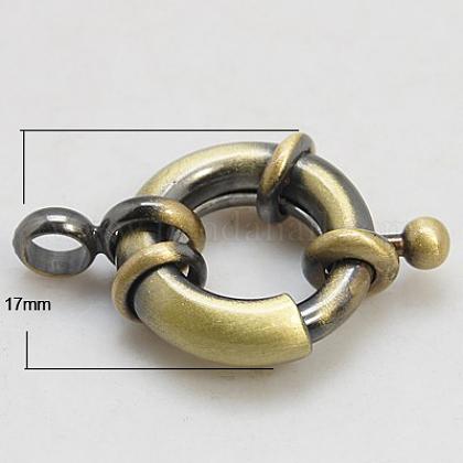 Латунная застежка пружинного кольцаKK-E266-17mm-AB-NR-1