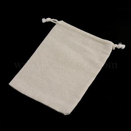 コットンラッピングポーチ巾着袋ABAG-R011-10x12-1