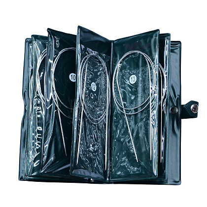 Base de agujas de tejer circular de acero inoxidable alambre de aceroTOOL-R050-43cm-1
