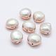 Perlas naturales abalorios de agua dulce cultivadasPEAR-F006-58RG-1