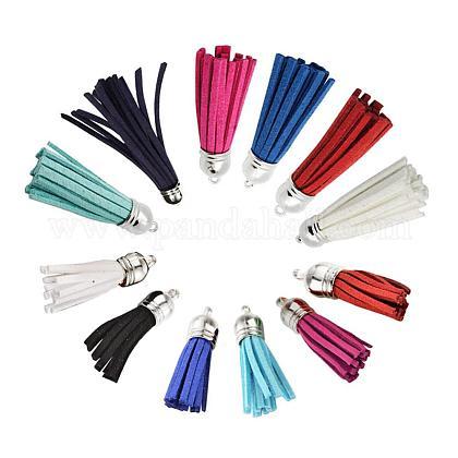 Suede Tassels Pendant DecorationsDJEW-JP0001-06B-1