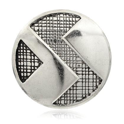 Flat Round Iron PendantsIFIN-J033-17AS-1