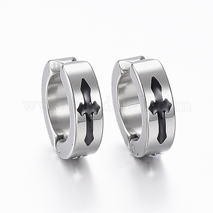 304 Stainless Steel Clip-on Earrings EJEW-H351-10P-1