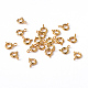 Golden Tone Jewelry Components Brass Spring Ring ClaspsX-EC095-G