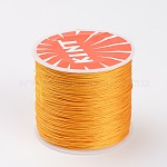 Round Waxed Polyester Cords, Gold, 0.6mm; about 70m/roll