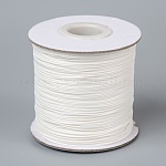 Korean Waxed Polyester Cord, Bead Cord, Creamy White, 0.5mm, about 185yards/roll