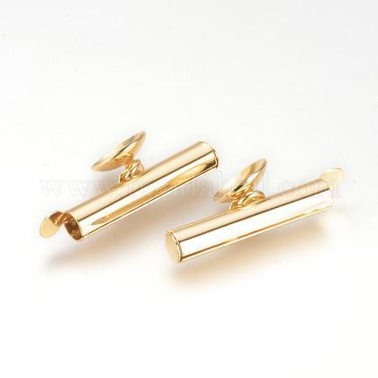 Brass Slide On End Clasp TubesKK-Q675-31-1