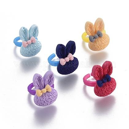 Bunny Resin RingsRJEW-JR00245-M-1