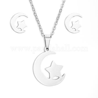 Conjuntos de joyería de 304 acero inoxidableSJEW-D094-31P-1