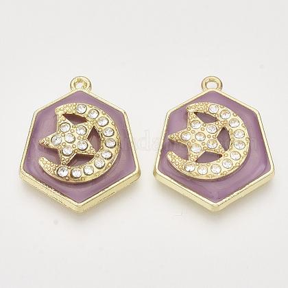 Colgantes de aleación de Diamante de imitaciónALRI-N034-03A-1
