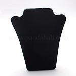 Velvet Necklace Display Bust, Black, 220x170x10mm