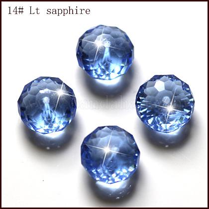 Abalorios de cristal austriaco de imitaciónSWAR-F068-8x10mm-14-1