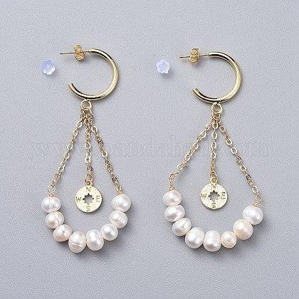 Pendientes de perlas naturalesEJEW-JE03828-04-1