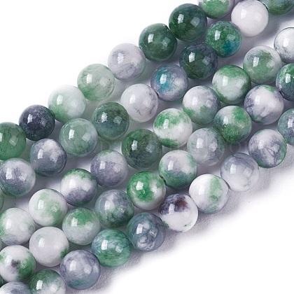 Abalorios de jade natural persa hebrasG-E531-A-20-1