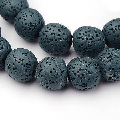 Round Natural Lava Stone Bead StrandsG-L415-04-12mm-1