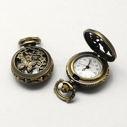 Cabezas de relojes antiguos huecos planos reronda zinc aleación de cuarzoWACH-R008-07-1