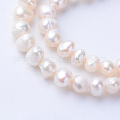 Hebras de perlas de agua dulce cultivadas naturalesPEAR-S010-18-1